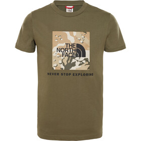 The North Face Box SS Tee Kinder new taupe green/new taupe green desert youth print